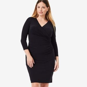 Lauren Ralph Lauren 3/4Sleeve Runched Jersey Dress